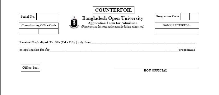 BOU CELP/CALP Admission Circular 2020-21 | Bangaladesh Open University CELP/CALP Program Admission Notice 1
