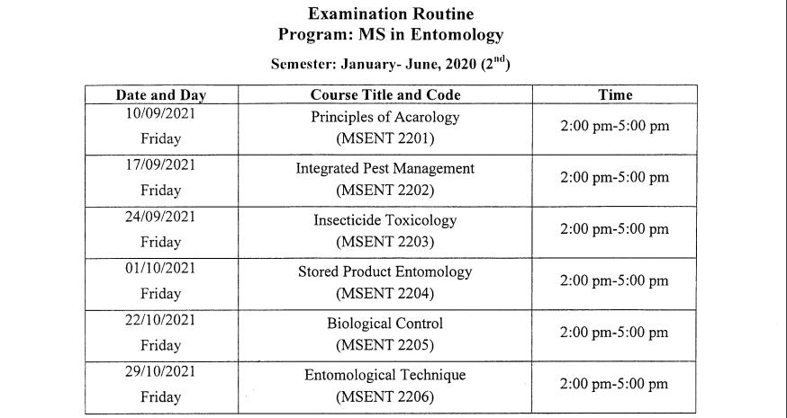 BOU MS Exam Routine 2021 1